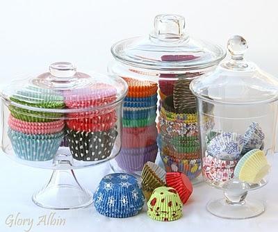 I love cupcake liners: Cupcake Liners, Cupcake Basics, Sweet, Store Cupcake, Glorious Treats, Pretty Cupcake, Storage Ideas, Cupcake Liner Storage