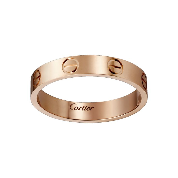 Cartier LOVE wedding band in rose gold - iconic elegance