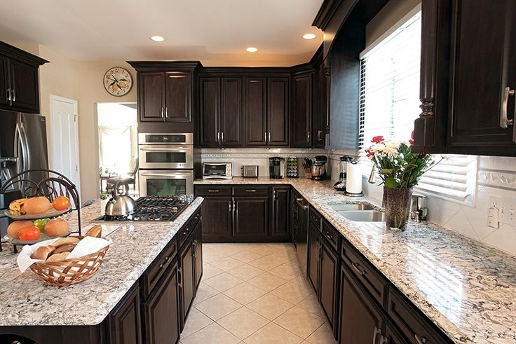 732 best beautiful kitchens ideas images on pinterest for Chocolate pear kitchen cabinets