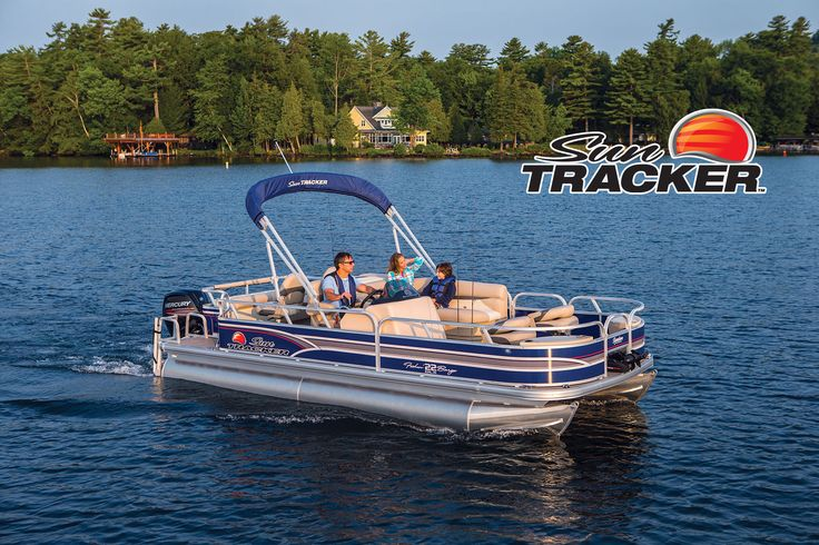 NEW 2015 Sun Tracker® Fishin' Barge 22 DLX   Exclusive Auto Marine #SunTracker #pontoon
