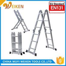 EN131 approved aluminium ladder aluminum foldable Stepladder, Extension Ladder made in Chinamultipurpose ladder