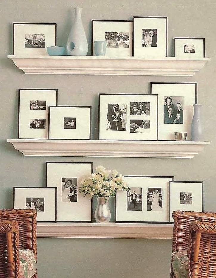 A Few of My Favorite Things: Picture Collage Shelf