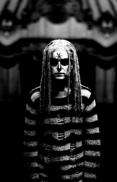 The Lords of Salem Rob Zombie Sheri Moon Zombie Halloween Movies Striped Sweater Scary