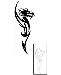 Tribal Dragon Tattoos AXF-00235 Created by Diaconu Alexandru