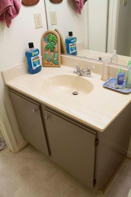 bathroom laminate cabinets painted