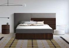 Testiera imbottita e in legno, per camere moderne