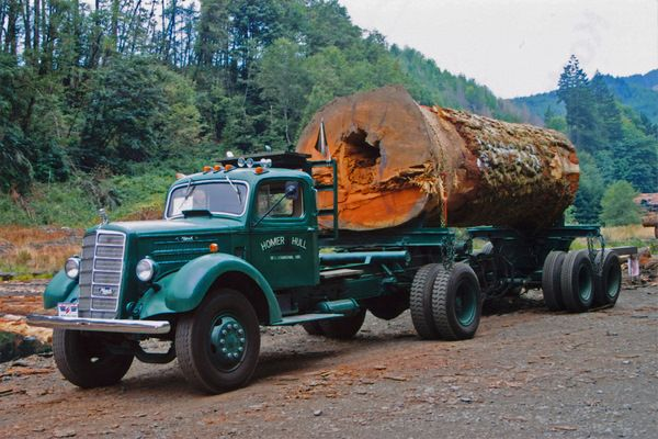 1941 MACK. As much as I like the truck, it's the log that's really eye catching.