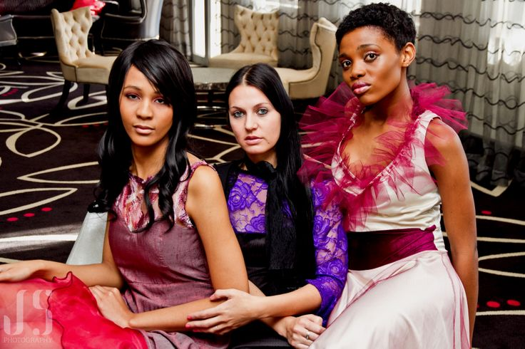 (From left to right) Courtney Lemmert of Mira 9 Models, Chrismare Visser of DDCK Fashion, Andisiwe Mayekiso of CAFB 2013 Hair: Sara Gray (TicklePink Styling) Make-Up: Anelia Fourie (Creative Arts) Photography: Jessica Solomon Photography Editing: Perana Viosa