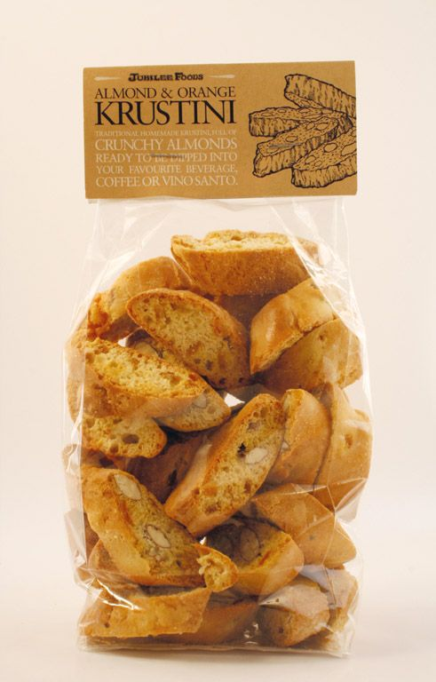 Krustini - Country hard biscuits for sipping in tea or coffee.