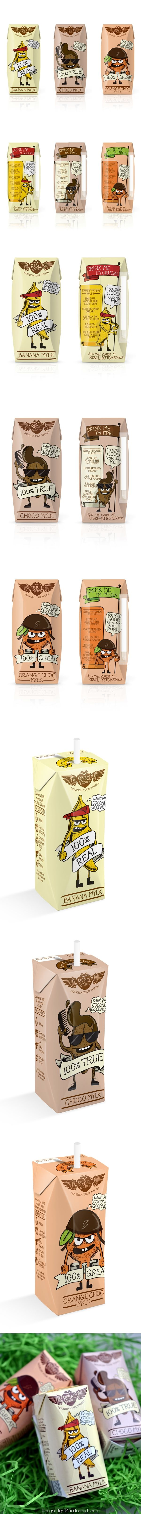 Rebel Kitchen: your daily #packaging smile : ) Curated by Packaging Diva PD created via http://www.behance.net/gallery/14470503/Rebel-Kitchen-Kids-Packaging