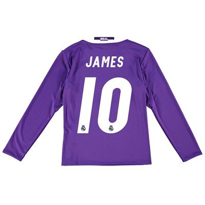 Real Madrid Away Jersey 2016/17 - Kids - Long sleeve - with James 10 p: The Real Madrid Away Shirt 2016-17… #RealMadridShop #RealMadridStore