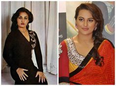 Sonakshi Sinha and Reena Roy:  I have read in papers how people often compare Sonakshi Sinha with Reena Roy (yesteryear actress) who reigned in Bollywood in the 1970s and 1980s.  I checked up online about Reena Roy and and yes, Sonakshi Sinha looks like a splitting image of the actress.  There is too much similarity, check out for yourself.