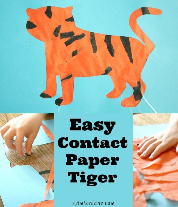 Easy Tiger Craft for Kids that could accompany reading The Tiger Who Came to Tea by Judith Kerr   from damsonlane.com