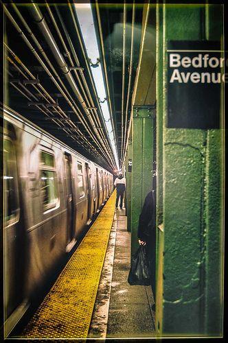 L train Bedford Avenue station Williamsburg, Brooklyn NY