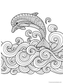Dolphins and Whales Coloring Pages - 1+1+1=1