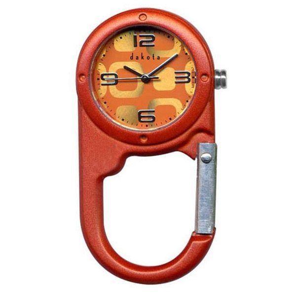Women's Orange Micro Mini Cup Carabiner Watch Hiking Camping Dakota  #Dakota