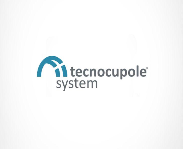 #Logo per Tecnocupole system, azienda che produce e installa cupole, tunnel e lucernari.