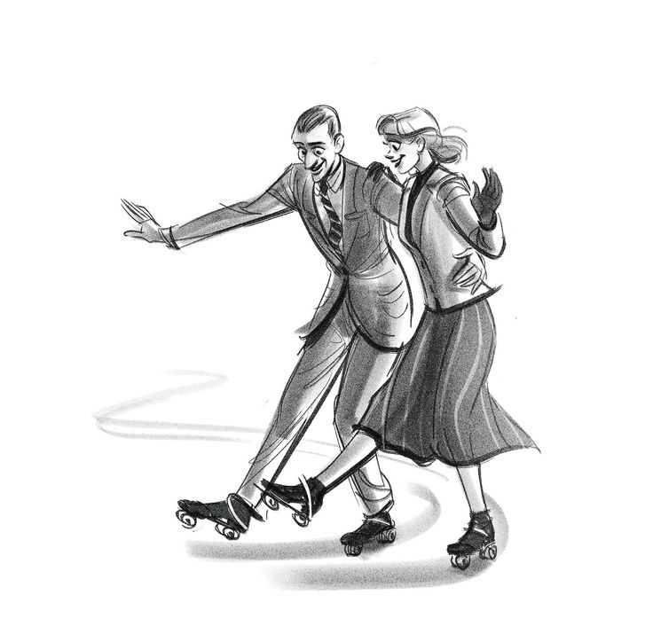 """Let's Call the Whole Thing Off"", 'Shall We Dance' / by ncdoodles (formerly scribbledigooks) #artwork #popculture #shallwedance #fredastaire #gingerrogers"