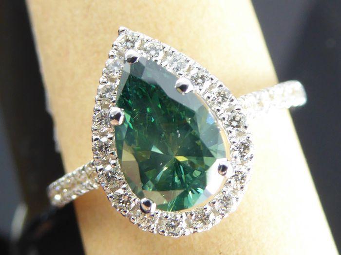 Très Les 25 meilleures idées de la catégorie Bagues en diamant bleu sur  AI89