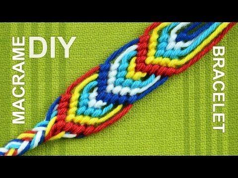 How to Macrame Leaves - Friendship bracelet - nice on both sides. - YouTube