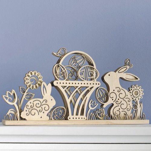 Flourish Easter Design Wood Centerpiece by Lauren Picciuca 4037712