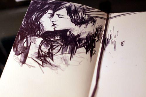 Cool sketch: Kiss, Drawings, Art Inspiration, Illustration, Sketchbook, Artsy Fartsy, Sketches