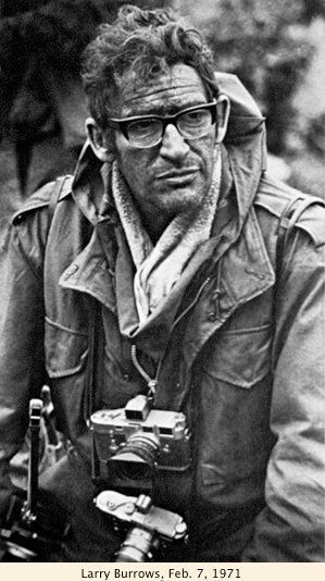 Larry Burrows and his Leicas, 1971. Life Magazine's war-photographer, he was killed during the Vietnam War.