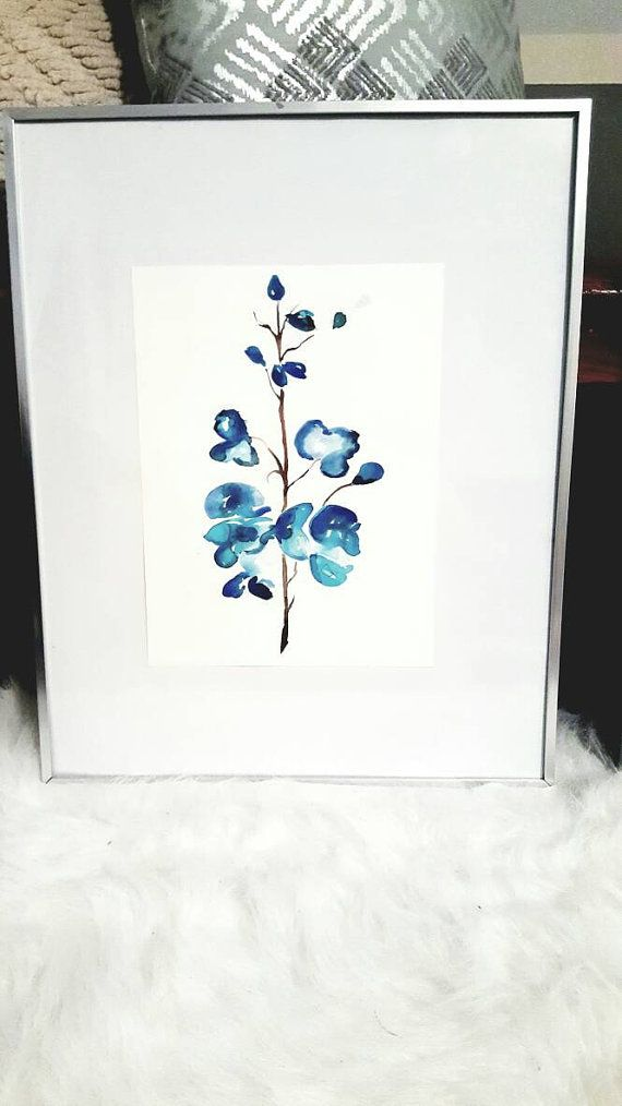Check out this item in my Etsy shop https://www.etsy.com/listing/481487987/fall-blue-flowerswatercolor-painting-art