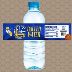 Golden State Warriors NBA Team Water Bottle Labels by KDesigns2006