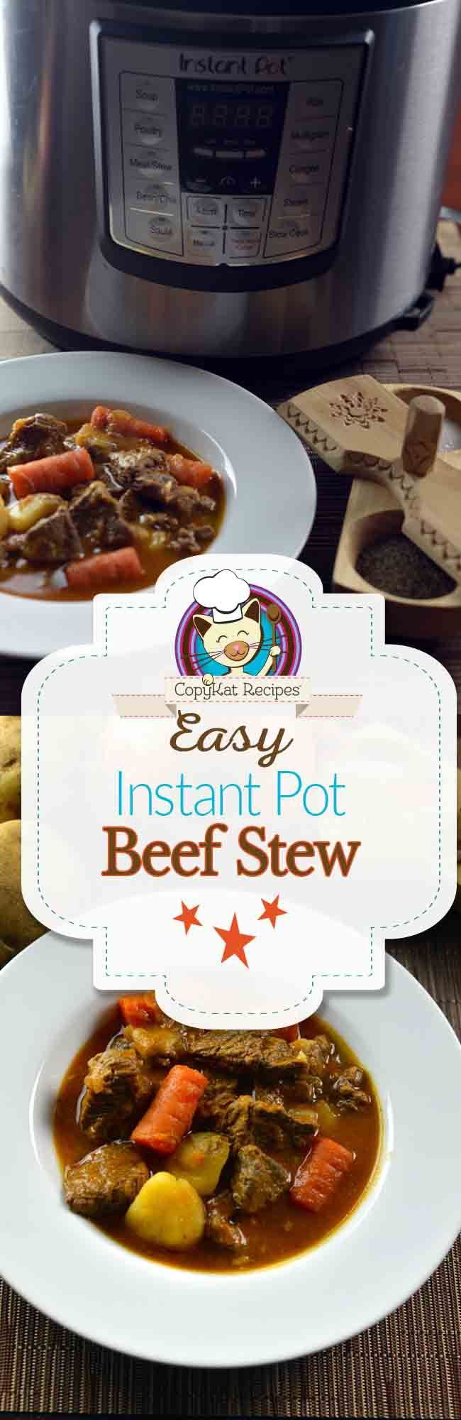 You can pressure cooker your beef stew for fast amazing flavor. Beef has never been so tender.