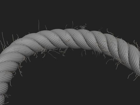 3D FX - Frayed Rope with Splines, a Displacement Map, and Hair - YouTube