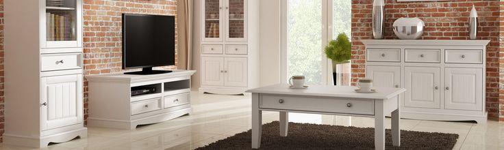 Provencálský bílý nábytek - serie Belluno Elegante  #bílýnábytek