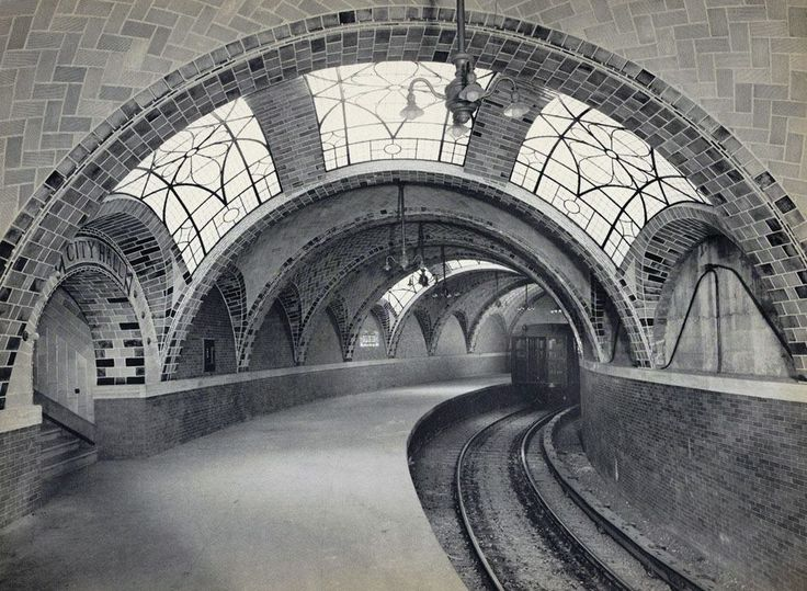 Original City Hall Subway Station, IRT Lexington Avenue Line, Manhattan, New York, 1904 •●