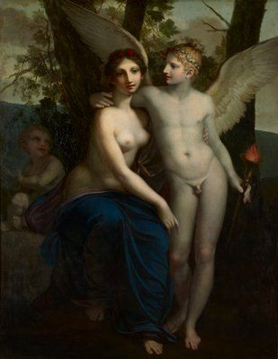 """Pierre-Paul Prud'hon: """"The Union of Love and Friendship"""", c. 1793, Oil on canvas, Minneapolis  Institute of Art."""