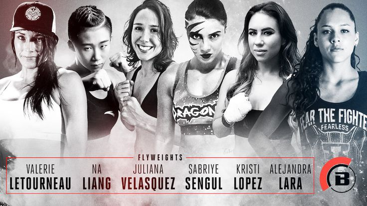 FOLLOW AND SHARE BELLATOR BOLSTERS WOMEN'S FLYWEIGHT DIVISION WITH MULTIPLE NEW SIGNINGS BELLATOR WOMEN'S FLYWEIGHT CHAMPTO BE CROWNED IN 2017 LOS ANGELES – Bellator is pleased to announce the signings of Valérie Létourneau (8-6), Alejandra Lara (6-1), Sabriye Şengül (Debut), Kristi Lopez (2-0), Na Liang (6-0) and Juliana Velasquez (5-0) to multi-fight contracts that will …