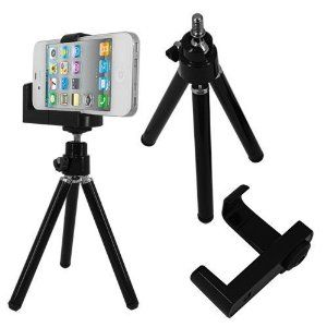 Mini Adjustable Tripod+camera Holder for Iphone and Other Cellphone $2.98