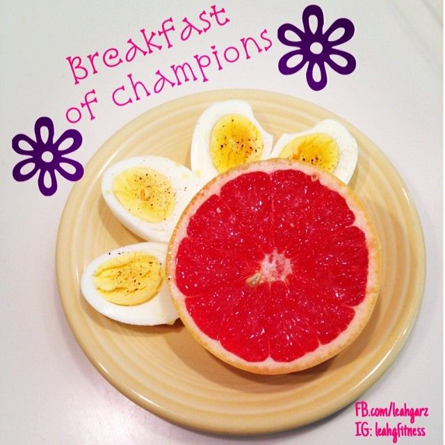 Breakfast Of Champions Boiled Egg Amp Grapefruit 1 Red 1 Purple 21 Day Fix Approved Healthy