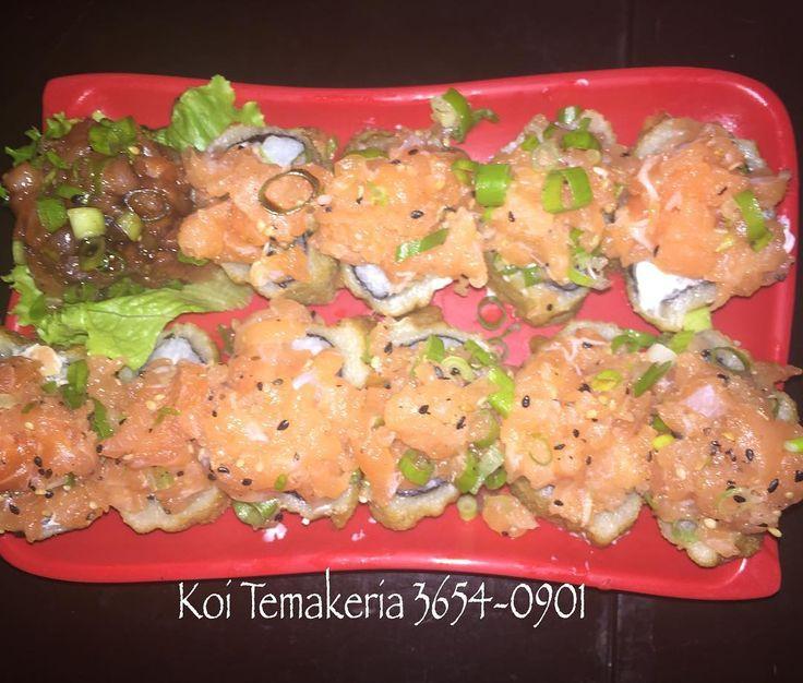 A pedida de hoje é o delicioso Makimono Hot Koiuma explosão de sabores!!! Não fique de foraligue e peça:  3654-0901 ESTAMOS ACEITANDO SODEXO!!! Aceitamos cartões de débitocrédito e Sodexo ( Exceto EloAmericanVR e Visa Vale). #KoiTemakeria #DeliveryKoi #ProjetoVerão #ClientesKoi #ComidaJaponesaDeQualidade #FechadosComAkoi #QuemTemQualidadeFica #KoiLovers  #Kani #Verão2016 #VerãoNaKoi #RecuseImitações #HotKoi #JapaLovers #Salmão #Tataki #HotFiladélfia by koi_temakeria