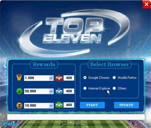 Top Eleven Hack für iOS, Android and Windows