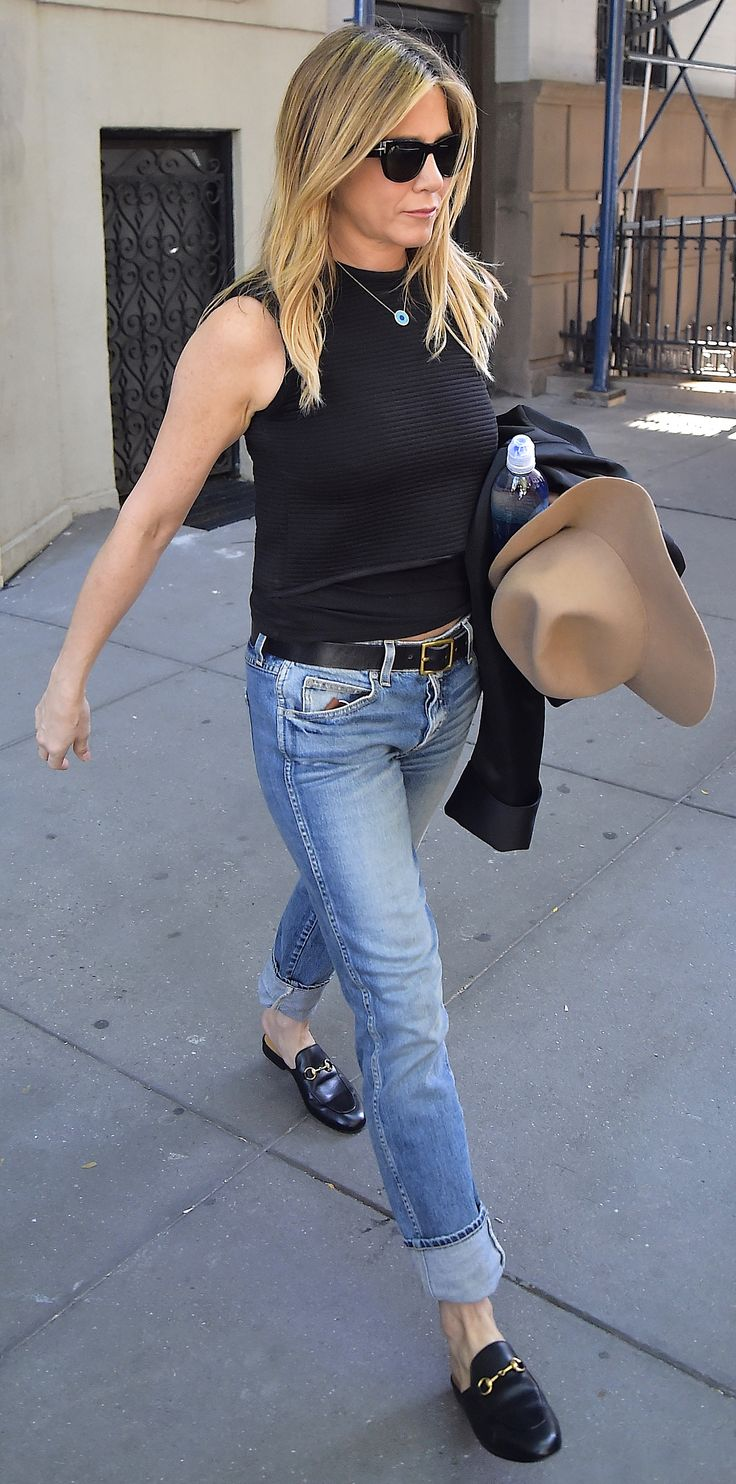 The Gucci Shoes Celebrities Can't Get Enough of - JENNIFER ANISTON from InStyle.com