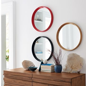 Love the mirrors and the textured wood