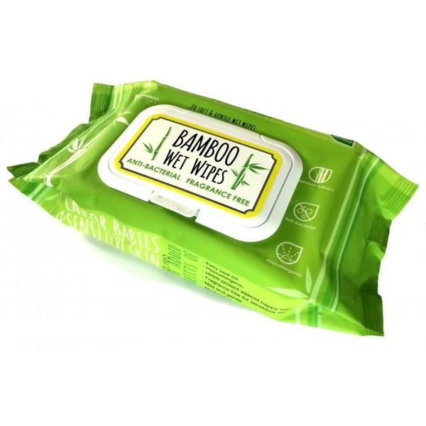 Our Bamboo Wet Wipes, from The Bamboo Design, have 70 wipes in each pack. The improved eco-friendly formula is antibacterial, hypoallergenic and mild and gentle on sensitive skin whilst being completely biodegradable. They are a great travel size, carry them in your hand bag, nappy bag or even in the car