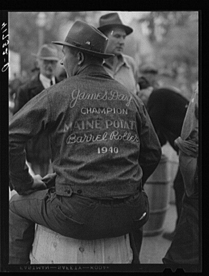 James Day- Champion Maine Potato Barrel Roller [1940]