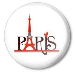 Значок Обожаю Париж