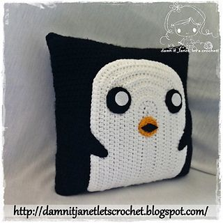 PDF Crochet Pattern - Gunter Pillow from Adventure Time. $2.00, via Ravelry.