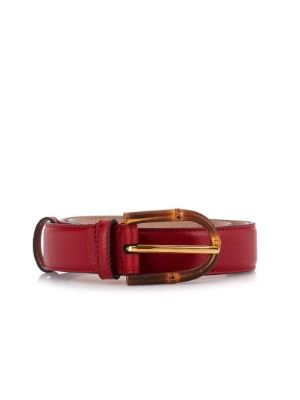 Bamboo-buckle leather belt | Gucci | MATCHESFASHION.COM