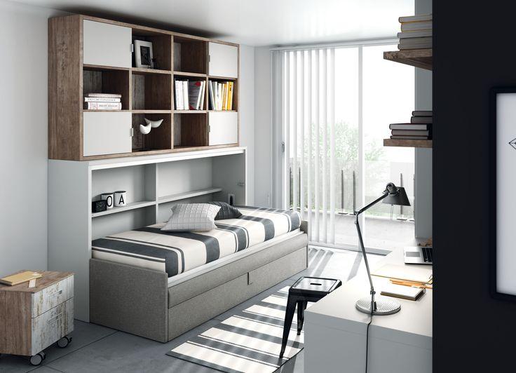 28 best camas para dormitorios con poco espacio images on - Sofa cama que ocupen poco espacio ...