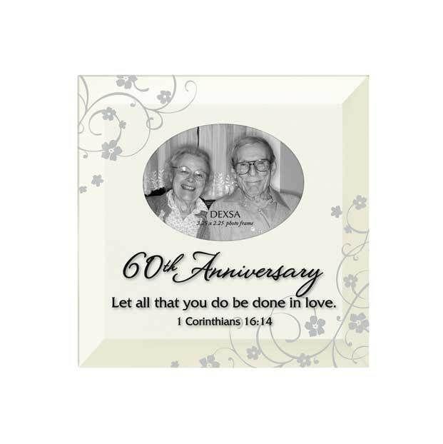 60th Anniversary Photo Frame Gift Wall Art Plaque Diamond Wedding Religious #Dexsa #Traditional