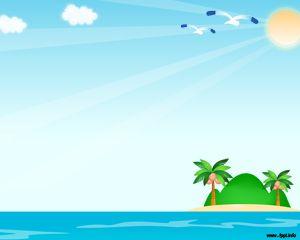 El fondo de PowerPoint playero o plantilla PowerPoint de playa es ideal para presentaciones de PowerPoint con destinos turísticos así como también relax o disfrute en la playa