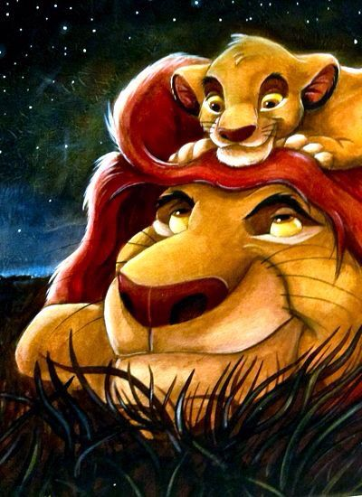 Simba: I bet that those hyenas were even scarder! Mufasa: That's 'cause NOBODY messes with your dad!